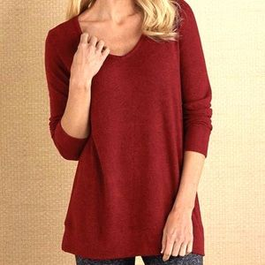 Soft Surroundings Cozy Cabin Pullover Red